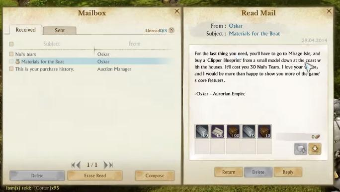 ArcheAge Materials for the Boat