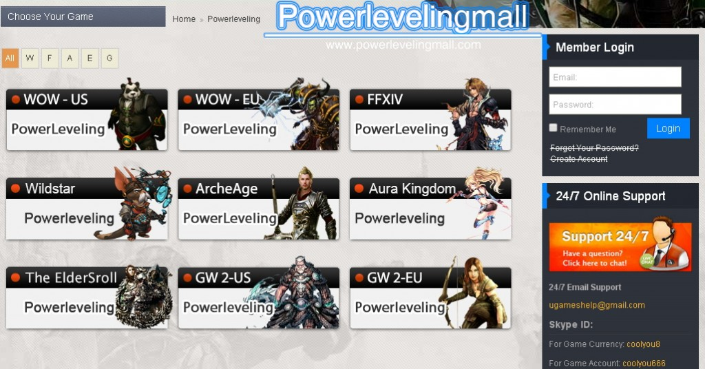 Mmo Game Power leveling